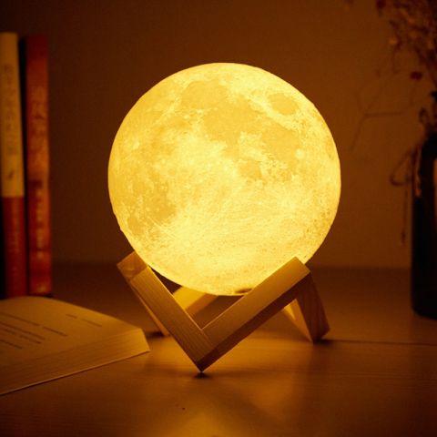 3D Ay Işığı Dokunmatik Gece Lambası